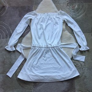 H by Halston off the shoulder white dress s-m fit